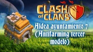Diseño de aldea ayuntamiento 7 (Antifarming tercer diseño) -Clash of clans #34