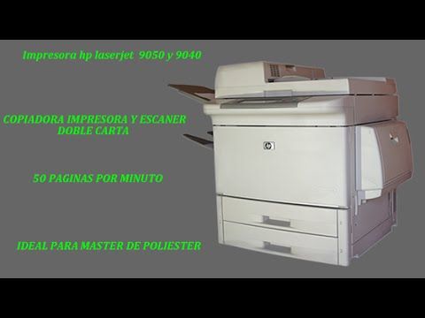Impresora Copiadora Y Escaner Mfp Hp Laserjet 9050 Youtube