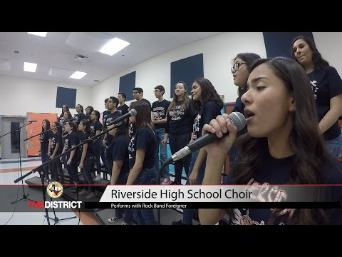 Riverside HS choir to perform live with rock band Foreigner.
