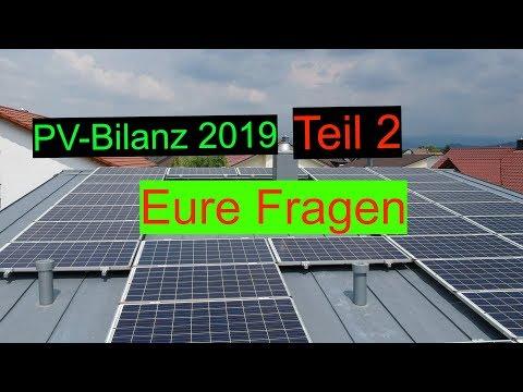 PV Bilanz 2019 Teil 2   Eure Fragen und Anregungen