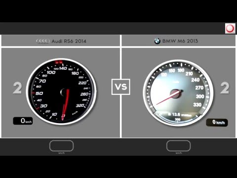 Audi RS6 2014 VS BMW M6 2013   / 0-250 Km/h