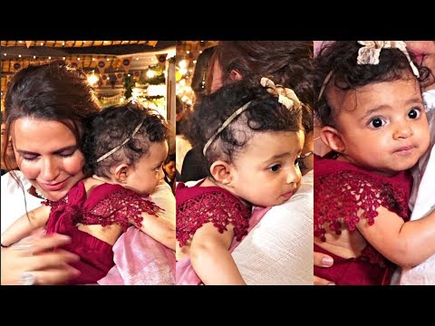 Neha Dhupia Daughter Mehr Looking Cute At The Mommy Network Pop Up