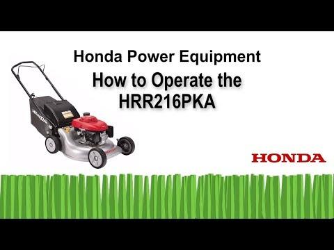 HRR216PKA Lawn Mower Operation