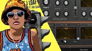 Making the BASS synth from DeJ Loafs Back Up ft. Big Sean