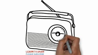 Easy Step For Kids How To Draw The Old Radio