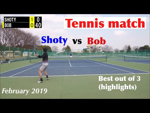 Tennis match highlights (Shoty vs Bob) (three-set match) #37