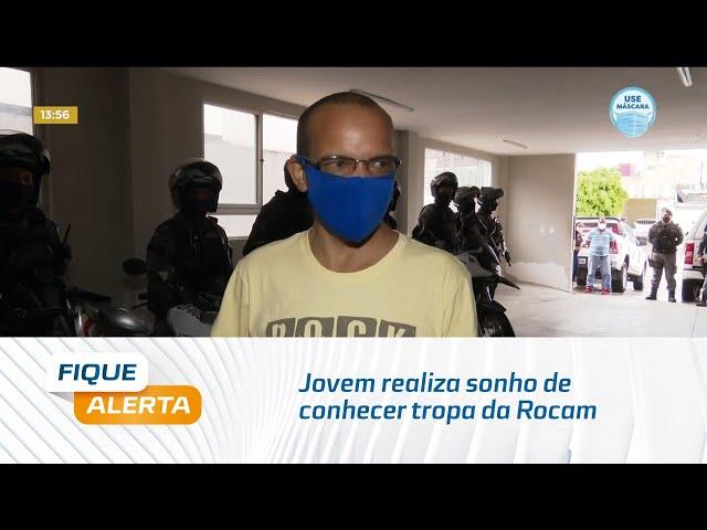 Jovem realiza sonho de conhecer tropa da Rocam e participa de patrulhamento nas ruas de Maceió