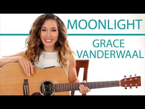 """""""Moonlight"""" by Grace VanderWaal - Fingerpicking and Chords Guitar Tutorial"""