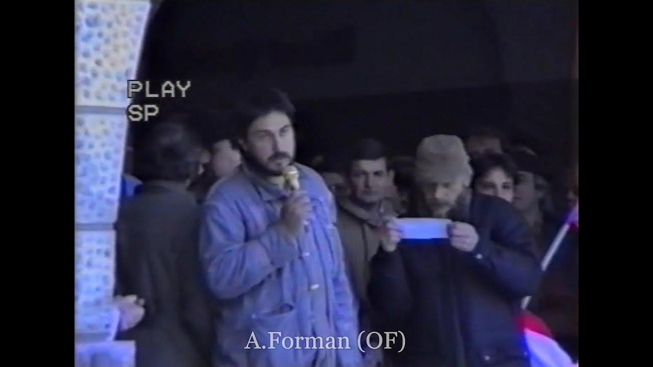 Generální stávka - Nový Jičín 27.11.1989