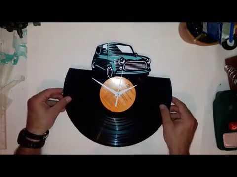 You create an old vintage car vinyl clock! Πως να φτιάξεις ένα ρολόι βινυλιού!
