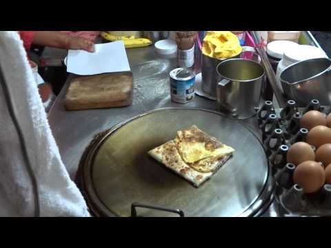 Thai Pancake with nutella and bananas made in Koh Samui