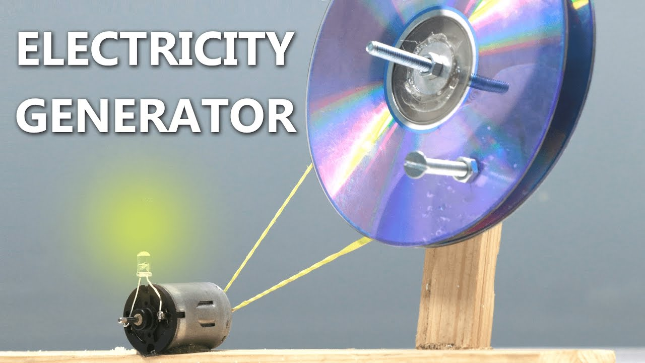 How To Make A Electric Generator At Home Using Cd You