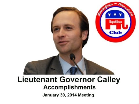 Lieutenant Governor Calley
