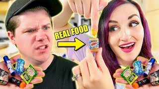 Trying The Mini Brands REAL FOOD TIK TOK MEME PRANK
