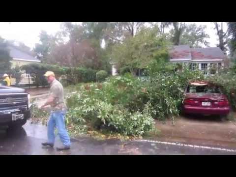 Monroe, Louisiana Garden District Storm Damage -- 10/13/14 -- Day 1