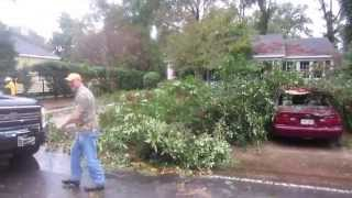 Monroe, Louisiana Garden District Storm Damage -- 10/13/14 -- Day 1