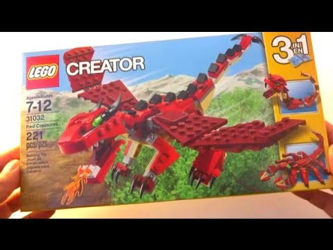 Lego Creator Unboxing 31032 - 3-in-1 Red Creatures (Dragon, Snake,  Scorpion) 221 pcs