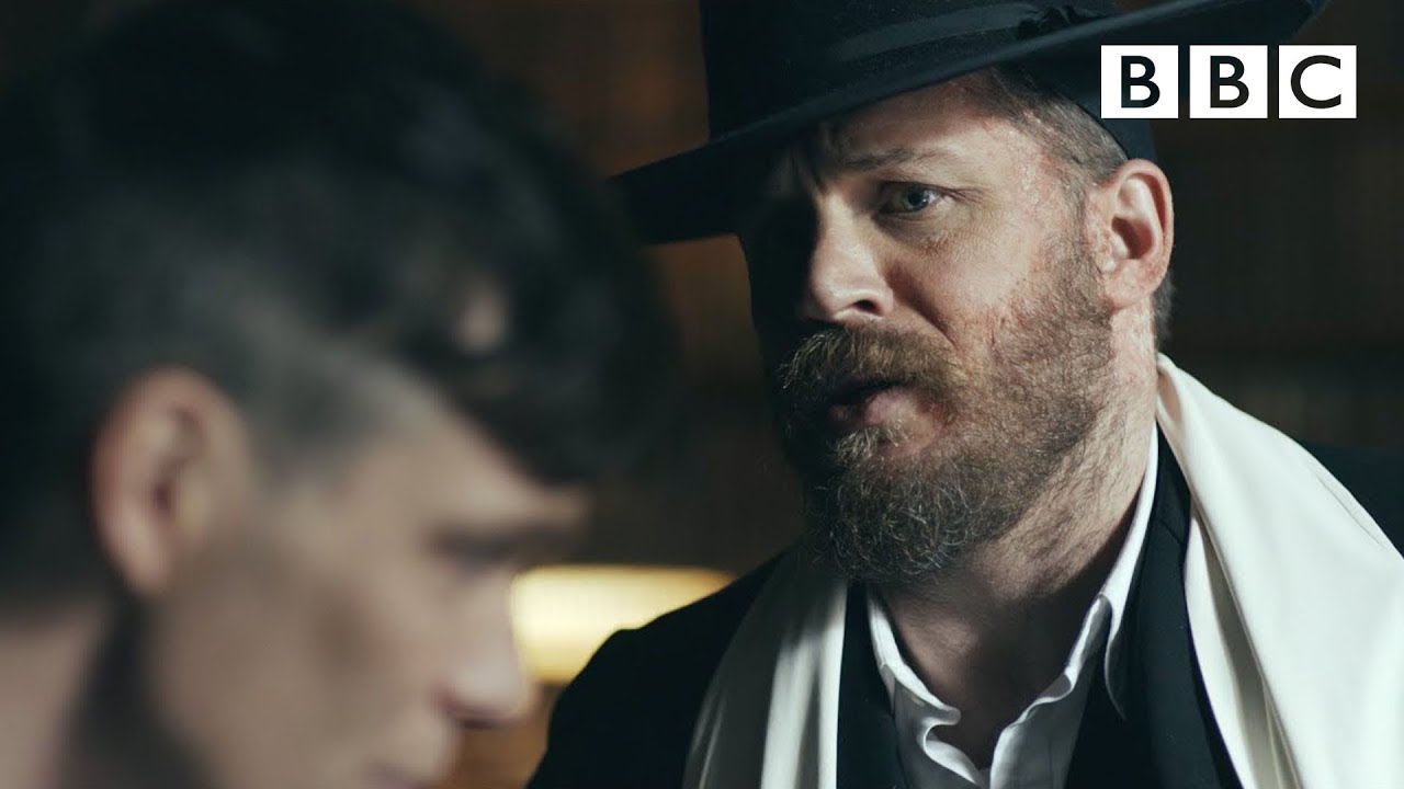 Alfie Solomons (Tom Hardy) confronts Tommy - Peaky ...