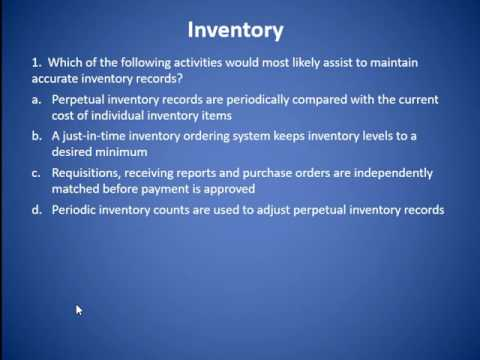 MACC 540 Internal Control Over Plant, Property & Equipment, Inventory & Investments