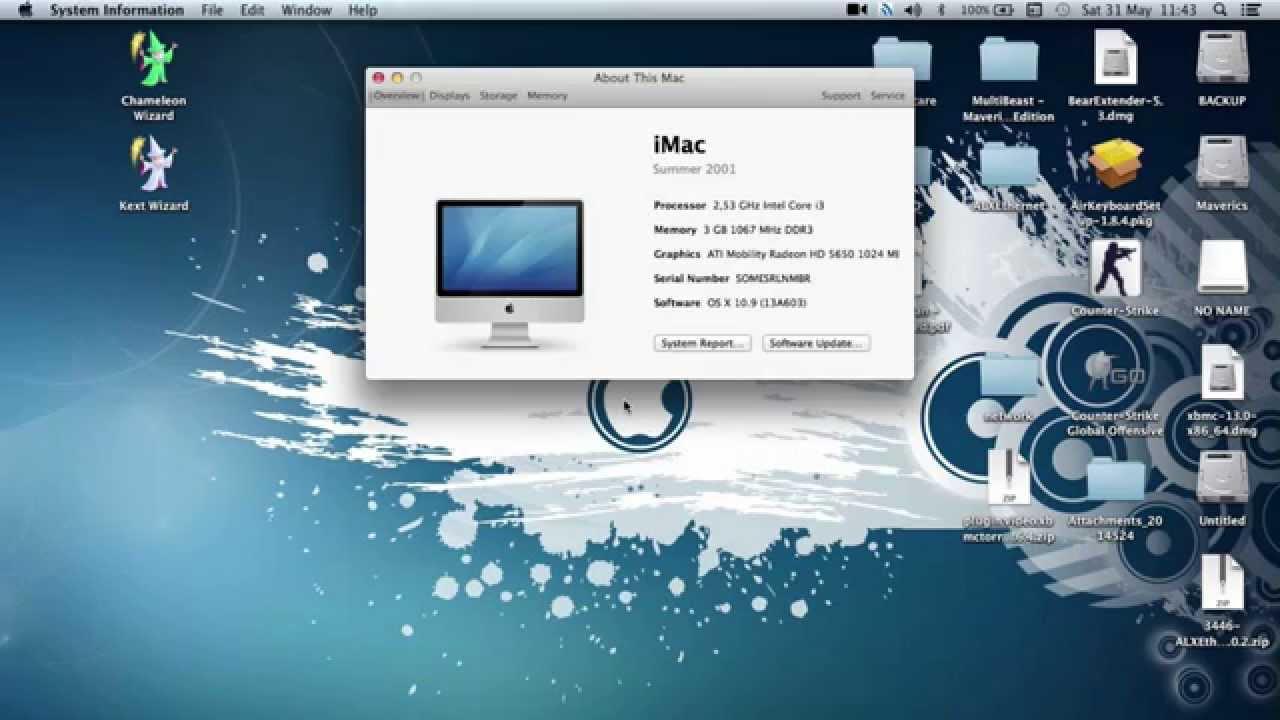 OS X Mavericks 10.9 on Toshiba Satellite L650 (Hackintosh) - YouTube