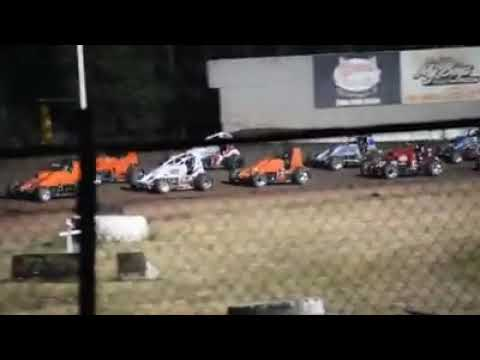 Nate Ellertson 2018 Wingless Nationals Main Event at Cottage Grove Speedway