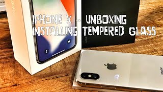 iPhone X Unboxing and Installing Tempered Glass Screen Protector - POLICE