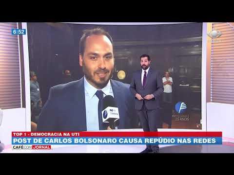 Post de Carlos Bolsonaro causa repúdio nas redes