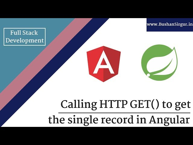 Angular and Spring MVC CRUD Tutorial - Call http get() to get single record - Part 21
