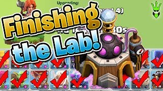 FINISHING THE LAB UPGRADES! - Let's Play TH9 Ep.35 - Clash of Clans - Goblin Knife Farming