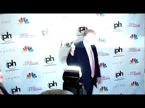 Donald Trump On Red Carpet MISS Universe 2012 Pageant 12-19-12