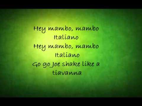 Mambo Italiano Dean Martin lyrics