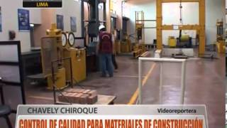 Control de calidad para materiales de construcción