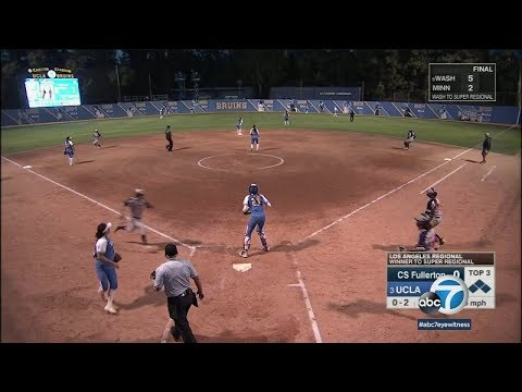 UCLA softball two wins from World Series | ABC7