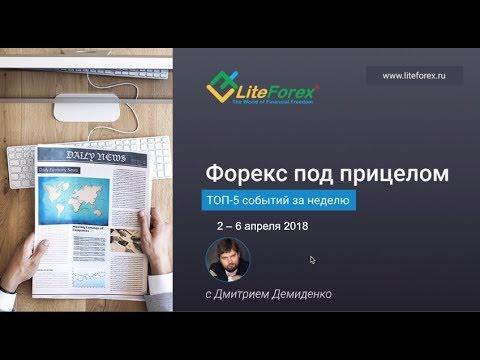 Форекс под прицелом. TOP-5  событий на неделю 2-6 апреля 2018