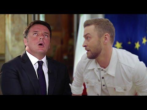 Matteo Renzi canta Justin Timberlake. Già 11 Milioni di visualizzazioni su Facebook