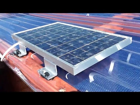 12v Solar Power Installation For a Small Shed