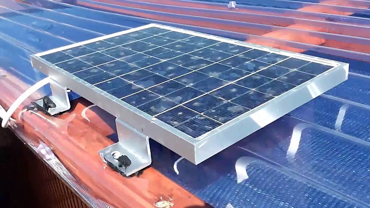 12v Solar Power Installation For a Small Shed - YouTube