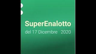Superenalotto 17 dicembre 2020