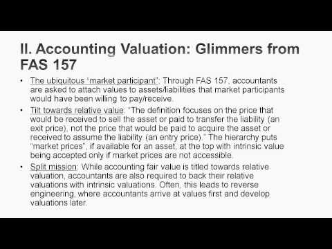 Session 19: Asset Based Valuation