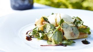 Pear Salad with Goats Cheese Mousse