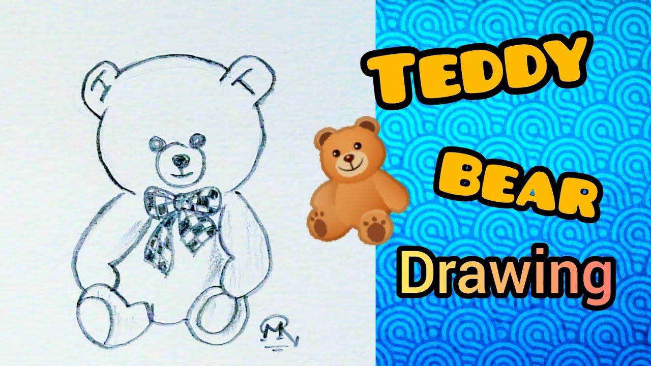 Easy Teddy Bear 🐻 Drawing || #short #filhall2 #status❤️