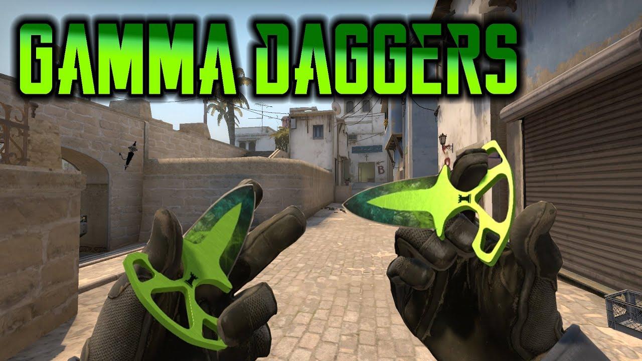 Gamma Skins On Shadow Daggers Youtube