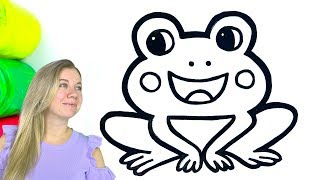 Frog Coloring and Drawing for Kids