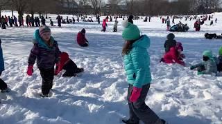 Maple Avenue Surprise All School Snow Party