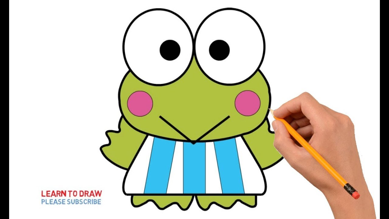 How To Draw Keroppi Step By Step Easy For Kids Youtube