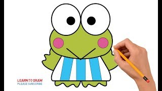 How to Draw Keroppi Step by Step Easy For Kids