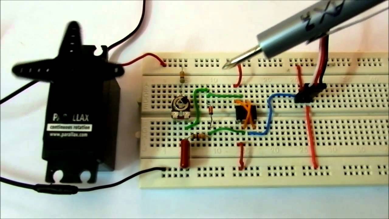Controlling Servo On Breadboard Using Without Dc Motor Stepless Speed Governor Circuit Basiccircuit Microcontroller Youtube