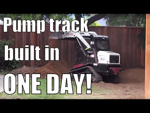 How to build a backyard pump track - IN ONE DAY