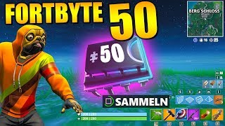 Fortnite Fortbyte 50 🌙 Night Mountain Ruins | All Fortbyte Places Season 9 Utopia Skin English