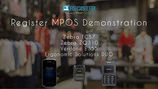 Quick demonstration showing register in a mobile point of sale setup using zebra technologies tc57 for the pos and scanning, ergonomic solution duo to ...